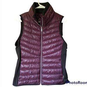 NWT Calvin klein performance purple poly fill puffy vest Womens size small